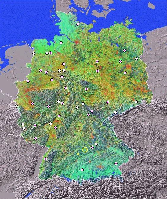 meteoriteneinschlag deutschland karte Meteoritenfälle und  funde in Deutschland